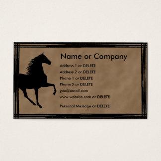 Gehende PferdeSilhouette Tennessees persönlich Visitenkarte