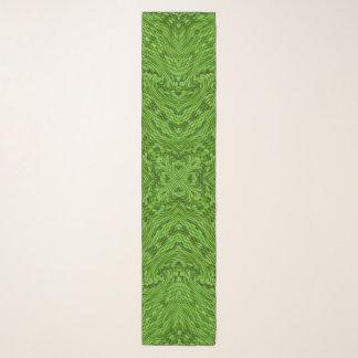 Gehender grüner Vintager Kaleidoskopchiffon-Schal Schal