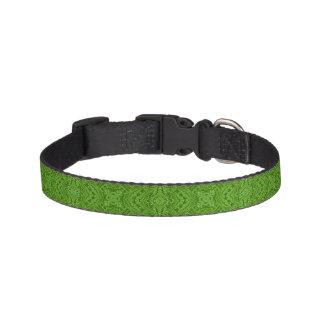 Gehendes Grün deckte Hundehalsbänder mit Ziegeln Leine