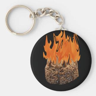 Gehirn auf Feuer Standard Runder Schlüsselanhänger