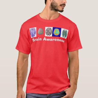 Gehirn-Bewusstseins-T-Stück Rot T-Shirt