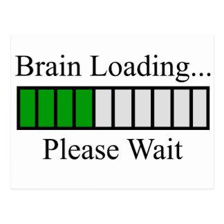 Gehirn-Laden-Bar Postkarte