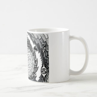 Gehirn landskape kaffeetasse