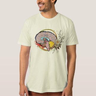 Gehirn mit Blumen T-Shirt
