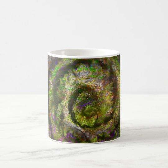 Gehirn-Nebelfleck-Veilchen Kaffeetasse