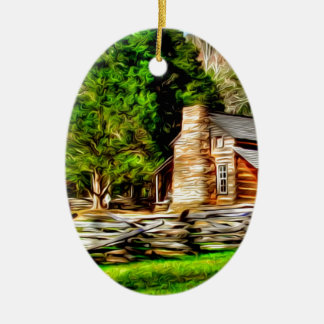 Gehöft-Kunst Ovales Keramik Ornament