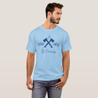 Geht Campings-Brand-Holz T-Shirt