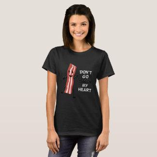 Geht nicht Speck mein Herz-Schwarz-T-Shirt T-Shirt