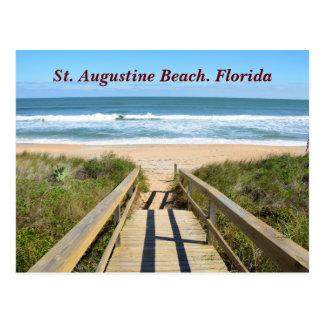 Gehweg zum Strand Postkarte