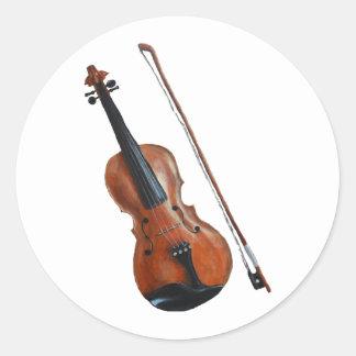 Geige Runder Aufkleber