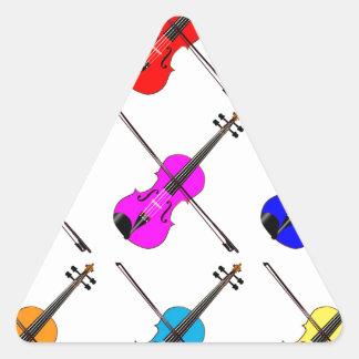 Geigen Dreieckiger Aufkleber