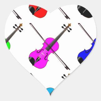 Geigen Herz-Aufkleber