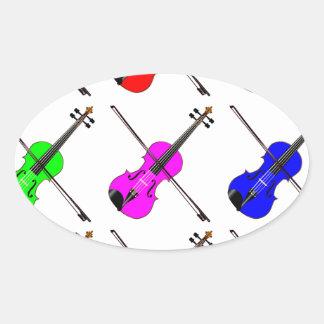 Geigen Ovaler Aufkleber