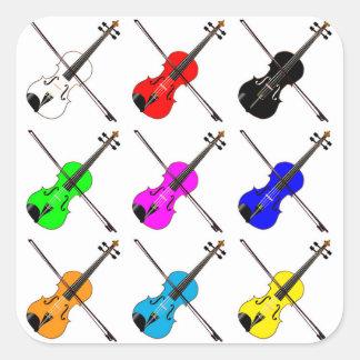 Geigen Quadratischer Aufkleber