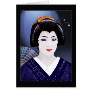 Geisha-Farbe Grußkarte