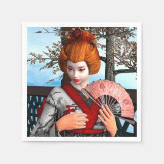 Geisha Papierservietten