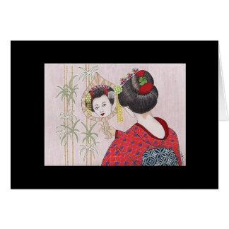 Geisha-ursprüngliche Kunst-Gruß-Karte Karte