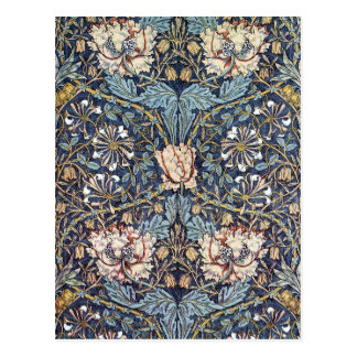 Geißblatt-Blume William Morris Postkarte