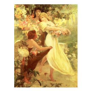 Geist Alphonse Mucha der Frühlings-Postkarte Postkarte