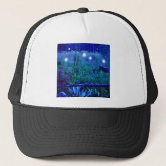 Geist beleuchtet blaue Nachtsumpfige Wiesen-Kugeln Truckerkappe