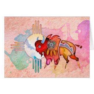 Geist-Büffel-freier Raum Notecard Karte