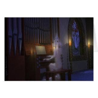Geist, der Organ-Karte spielt Karte