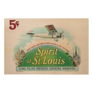 Geist des Vintagen Zigarren-Aufklebers St. Louis Holzleinwände