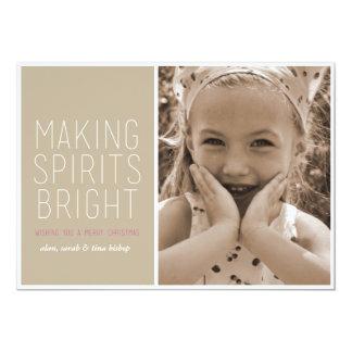 Geist hell machen - Feiertags-Foto-Gruß 12,7 X 17,8 Cm Einladungskarte