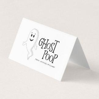 Geist kacken Halloween-Süßigkeits-Taschen-Deckel Platzkarte