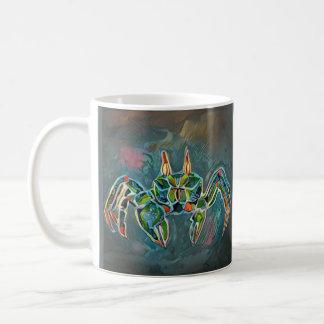 Geist-Krabben-Tasse im Grün Kaffeetasse