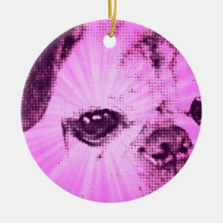 Geist-Mops-Weihnachtsverzierung Rundes Keramik Ornament