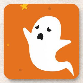 Geist-orange Halloween-Untersetzer Getränkeuntersetzer