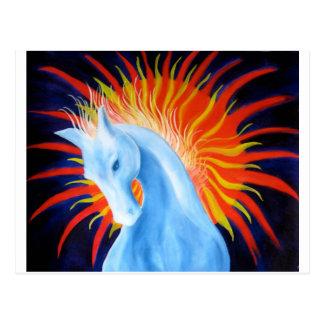 Geist-Pferdepostkarte Postkarte