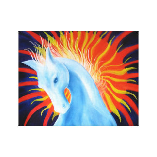 Geist-Pferderechteck-Leinwand Leinwanddruck
