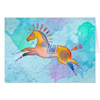 Geist-Pony-freier Raum Notecard Mitteilungskarte