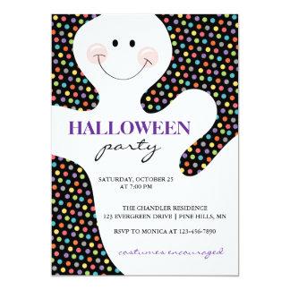 Geist punktiert Halloween-Party-Einladungen Karte
