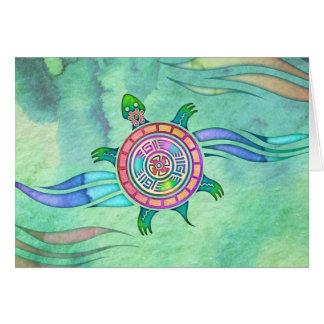 Geist-Schildkröte-freier Raum Notecard Mitteilungskarte