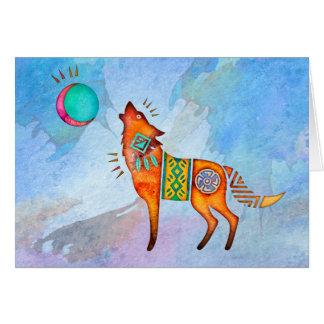 Geist-Wolf-freier Raum Notecard Mitteilungskarte