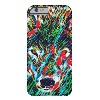 Geist-Wolf-Indie Kunst kundenspezifischer iPhone Barely There iPhone 6 Hülle