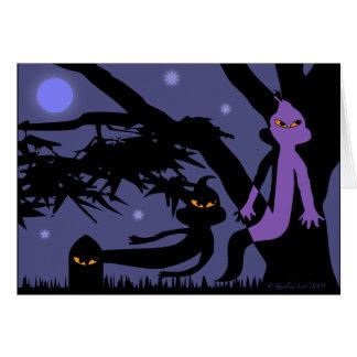 Geister und Grabstein-Halloween-Gruß-Karte Karte