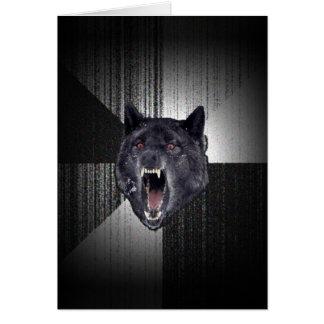 Geisteskrankheits-Wolf Meme lustiger Memes Karte