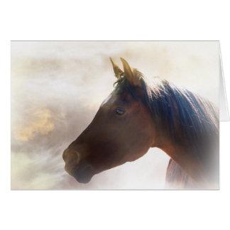 Geistige PferdeBeileids-Karte Grußkarte
