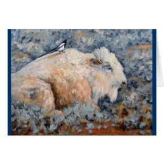 Geistige weiße Büffel-Kunst-Karte Karte
