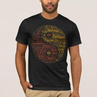 Geistige Yin Yang Wort-Kunst T-Shirt