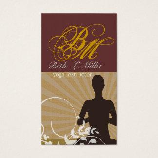 Geistiger Meditations-Yoga-Lehrer-extravagantes Visitenkarte