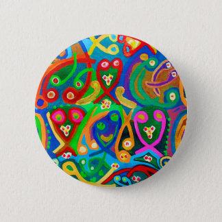 GEISTIGER Tanz eine elegante künstlerische Show Runder Button 5,1 Cm