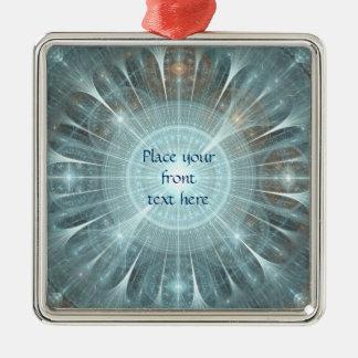 Geistiges Fenster Silbernes Ornament