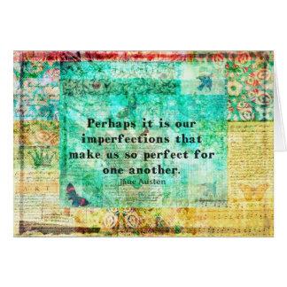 Geistreiches Jane Austen-Zitat Grußkarte