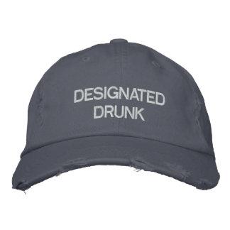 Gekennzeichneter betrunkener gestickter Hut