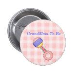Geklapper-Baby-Duschen-Großmutter-Button-Knopf